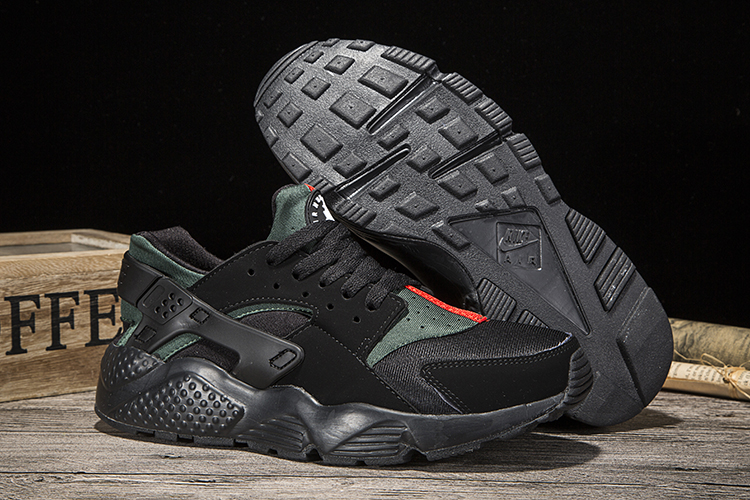 New Women Nike Air Huarache Carbon Black Shoes