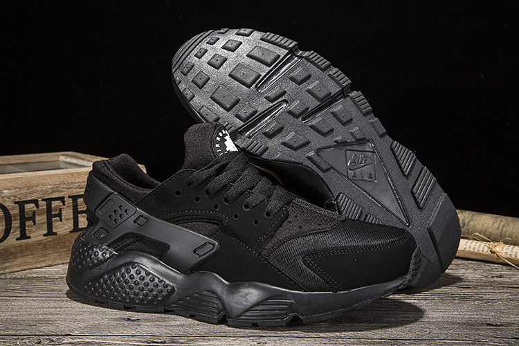 New Women Nike Air Huarache Cool Black Shoes