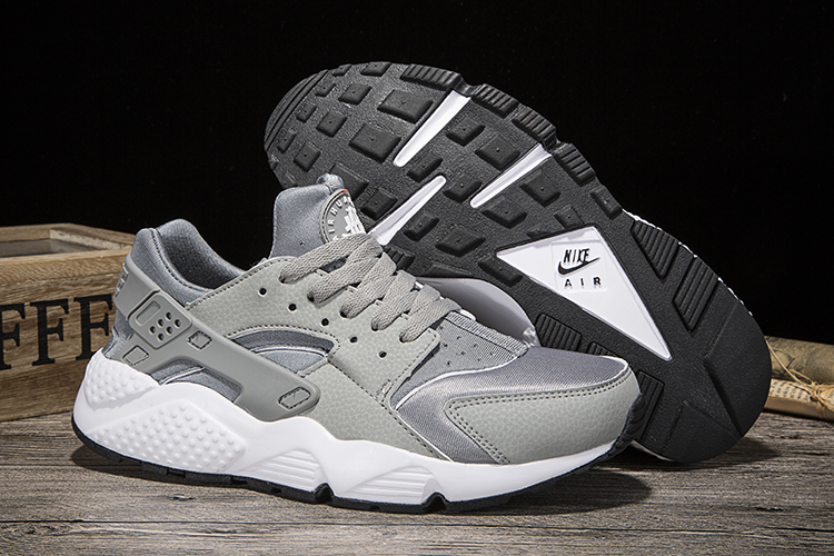 New Women Nike Air Huarache Grey Shoes