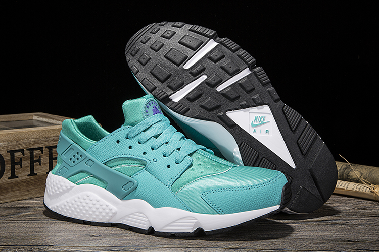 New Women Nike Air Huarache Jade Blue Shoes