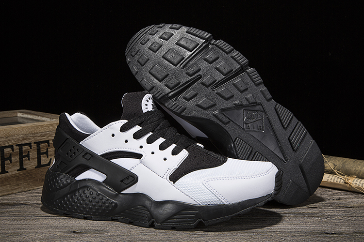 New Women Nike Air Huarache White Black Shoes