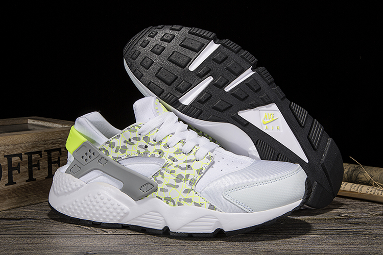 New Women Nike Air Huarache leopard Print White Yellow Shoes