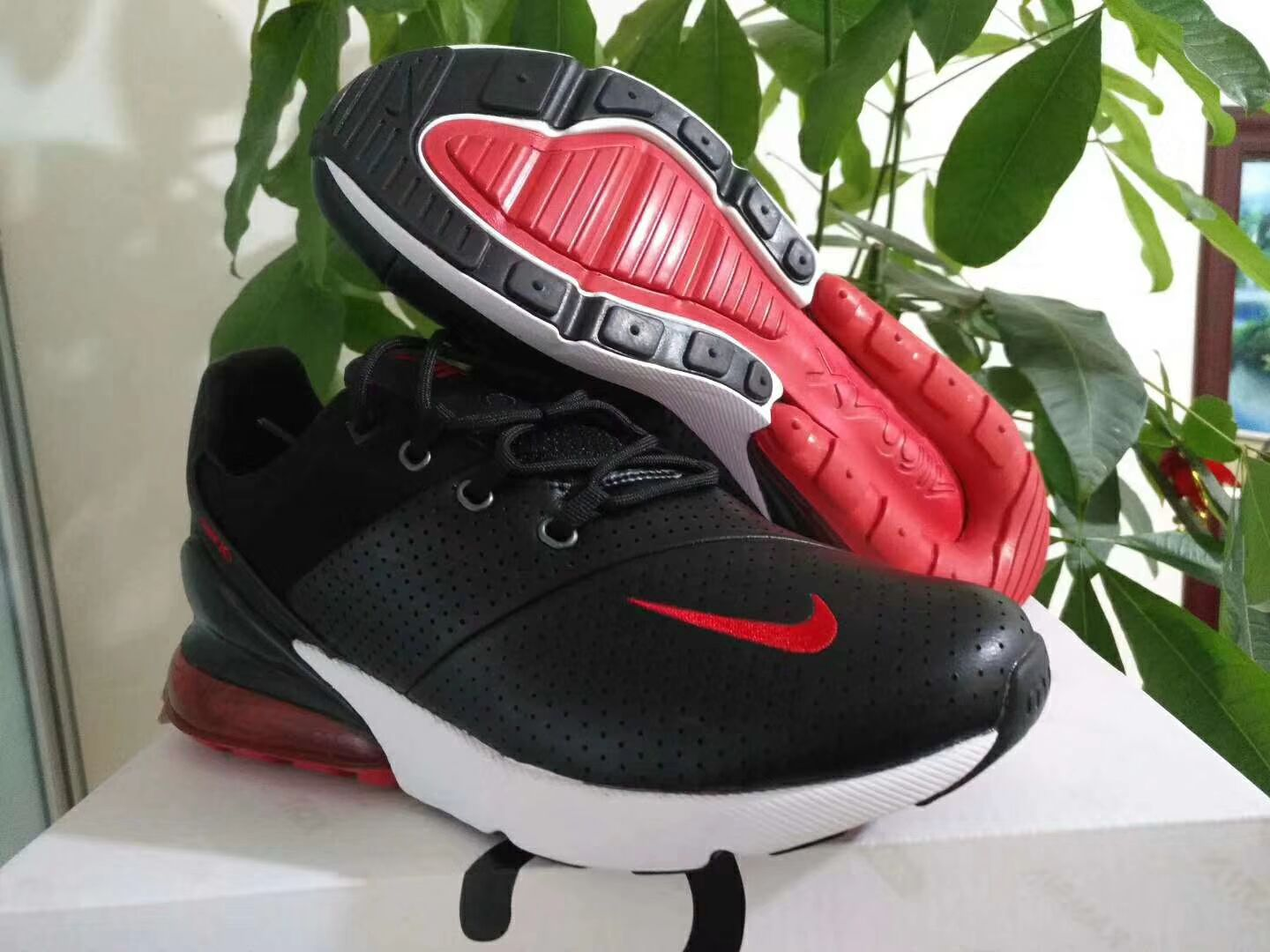 New Nike Air Max 270 Black Red White