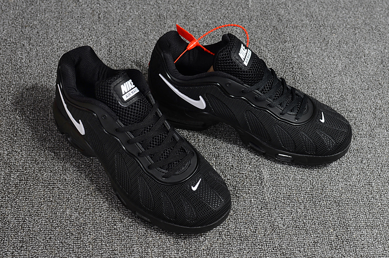 New Nike Air Max 96 All Black White Shoes