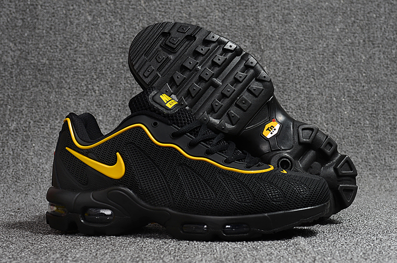 New Nike Air Max 96 Black Yellow Shoes
