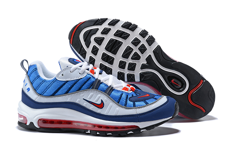 New Nike Air Max 98 Blue White Red Shoes