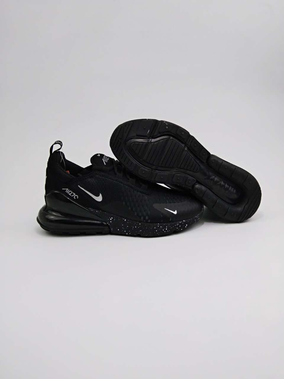 Women Nike Air Max Flair 270 Nano All Black Shoes