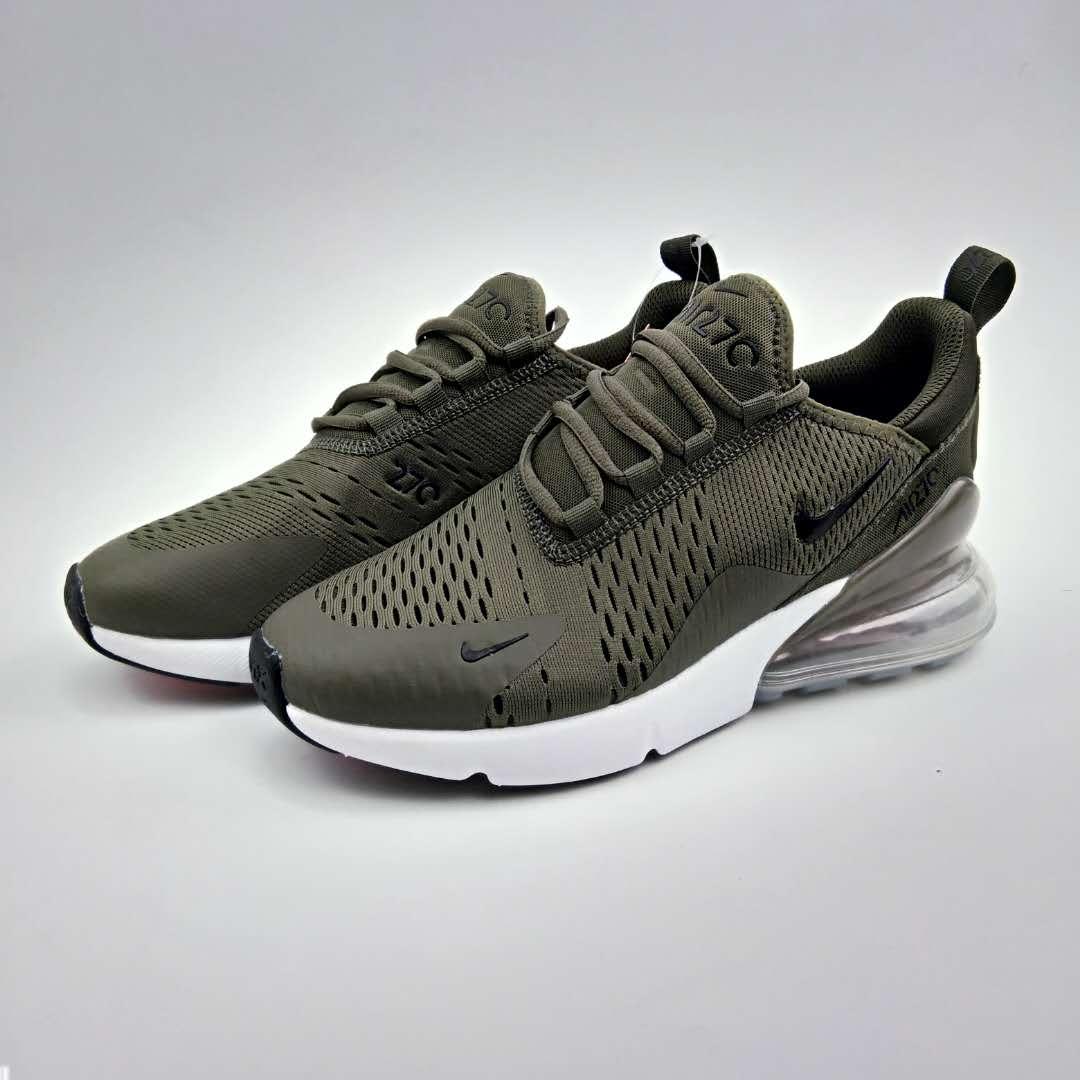 24121b9ea97d8 Women Nike Air Max Flair 270 Nano Army Green White Shoes