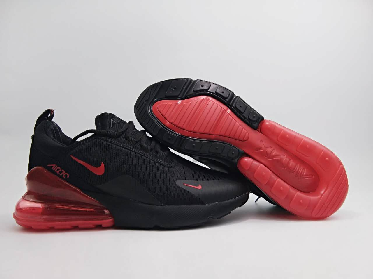 Women Nike Air Max Flair 270 Nano Black Red Shoes