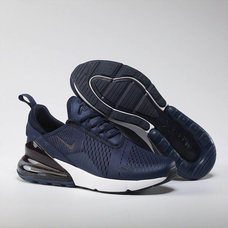 New Nike Air Max Flair 270 Nano Deep Blue White Shoes