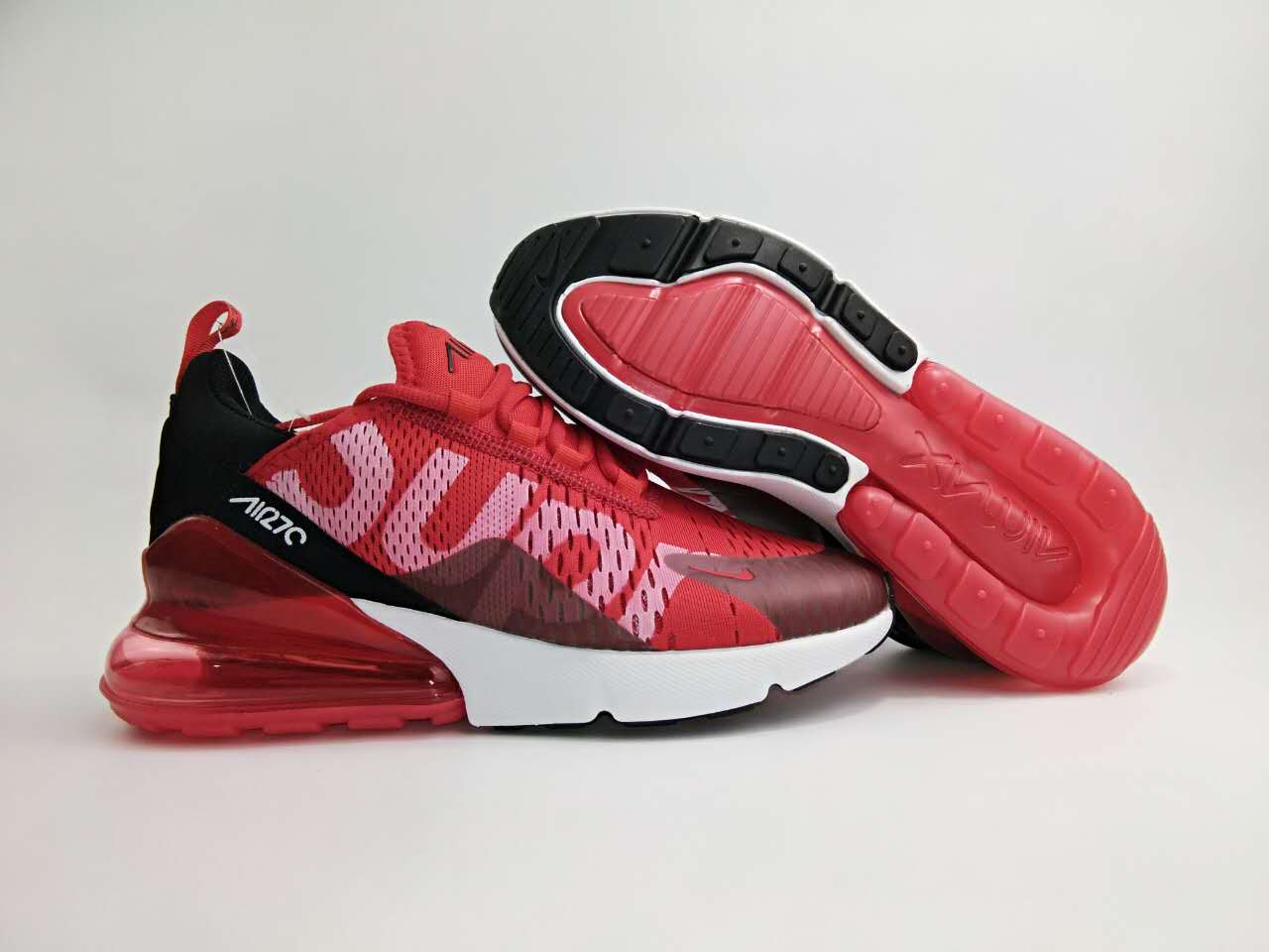 New Nike Air Max Flair 270 Nano Red Black White Shoes