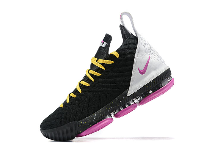 2019 Nike LeBron 16 Miami Heat Black Peach Yellow White
