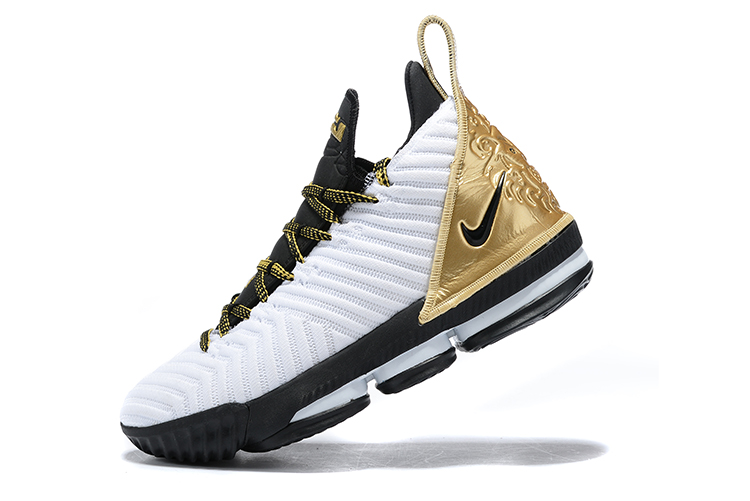 2019 Nike LeBron 16 White Black Gold
