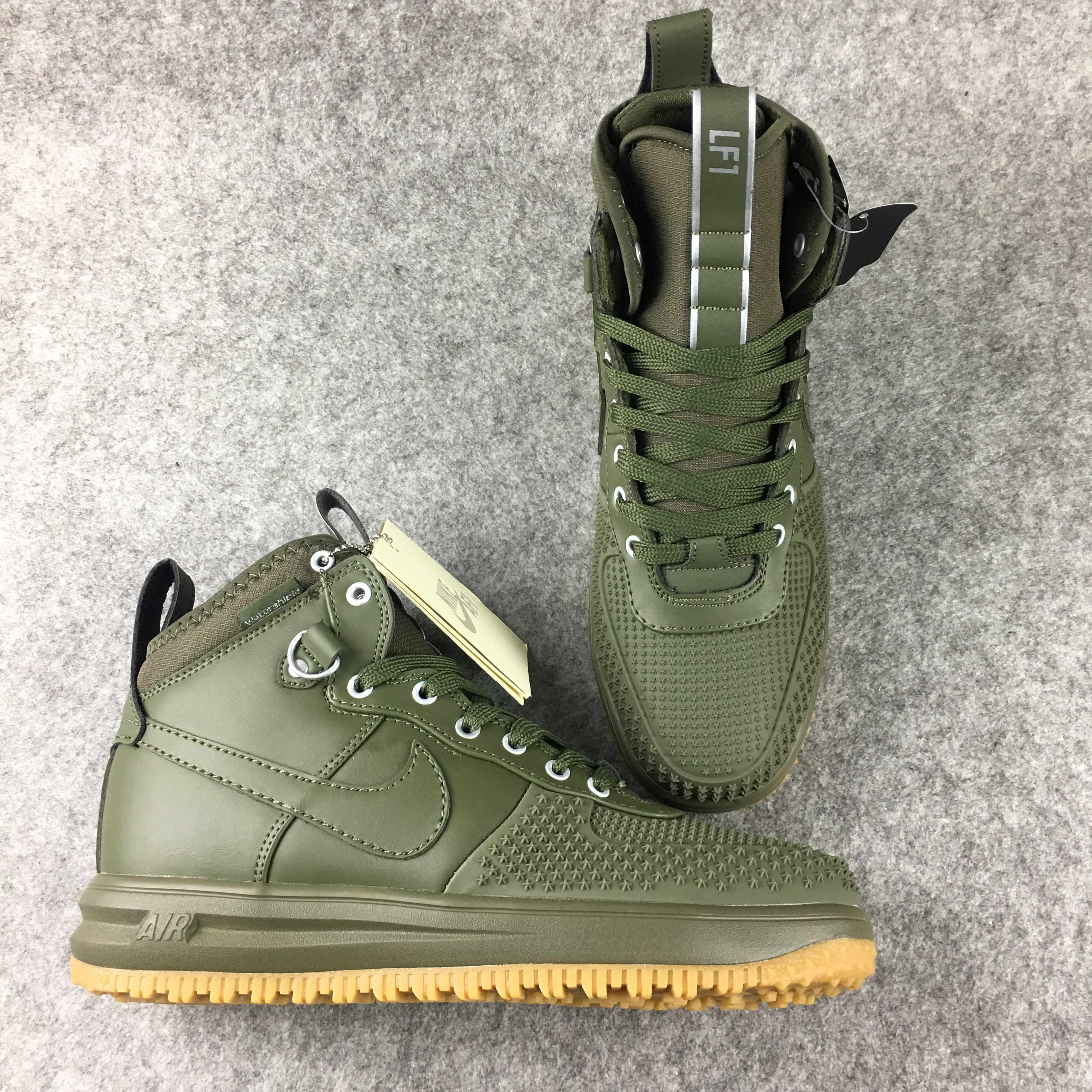 New Nike Lunar Force 1 High Army Green Shoes