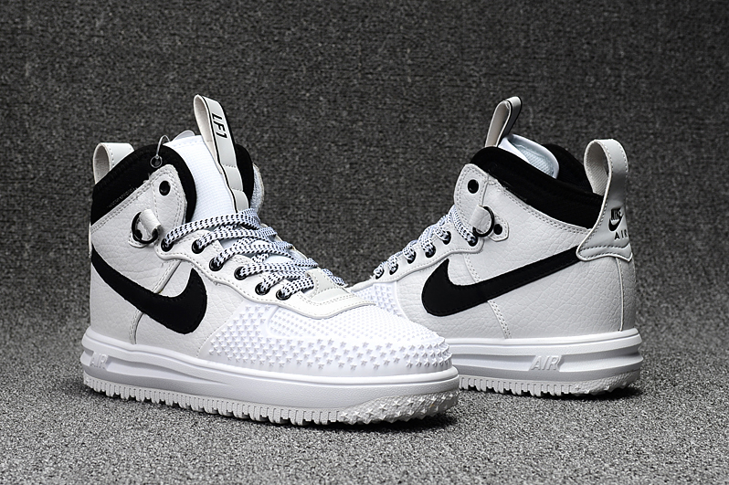 New Nike Lunar Force 1 High White Black Shoes