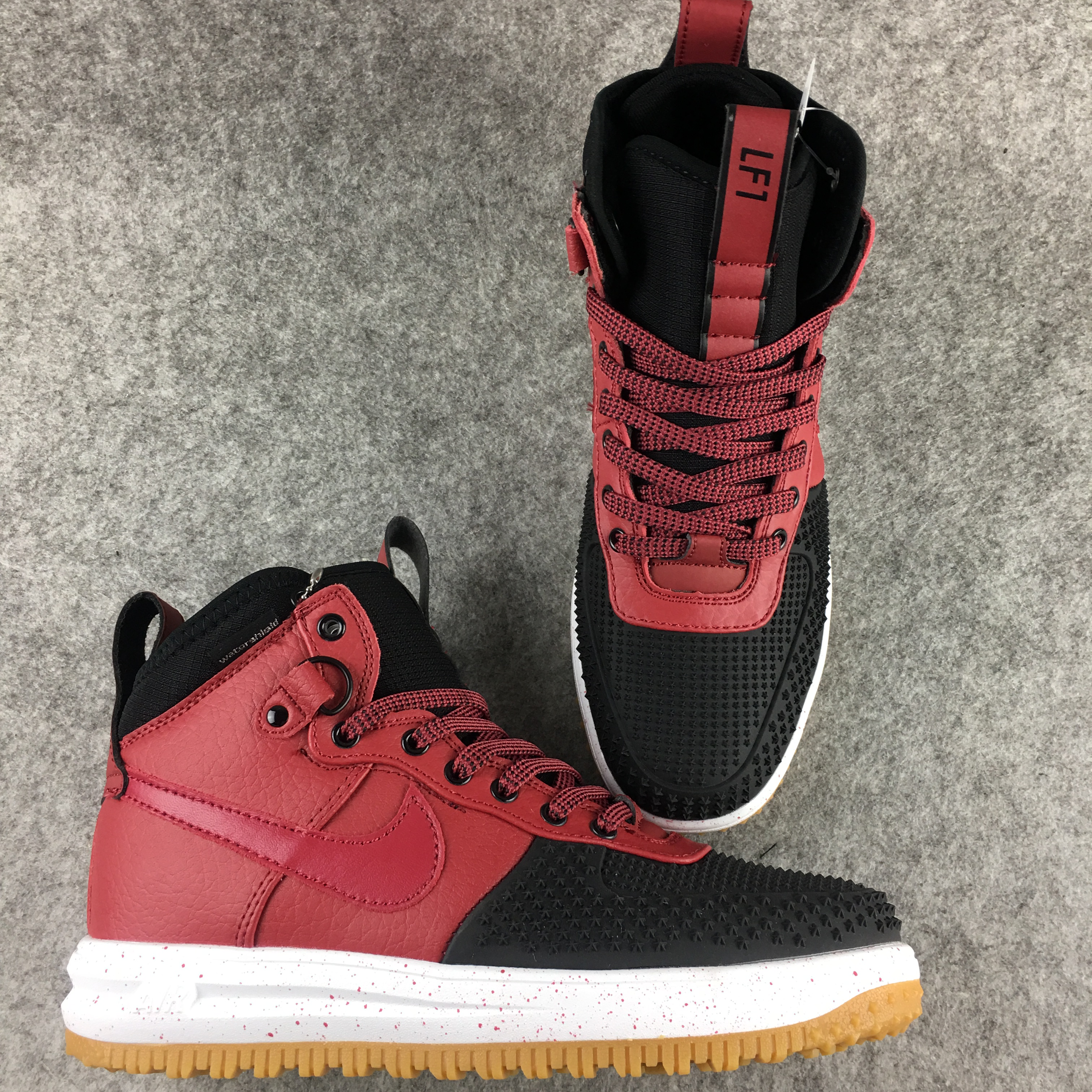 New Nike Lunar Force 1 Wine Red Black Shoes