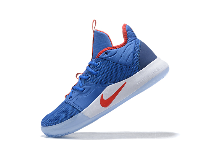 2019 Nike PG 3 Shoes Blue Red White
