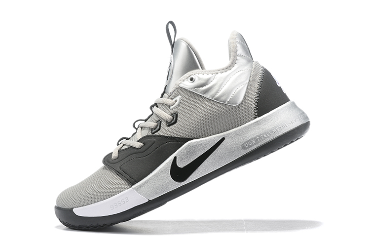 2019 Nike PG 3 Shoes Grey Black Silver