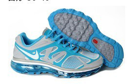 Nike Air Max 2012 Grey Blue White Logo Shoes