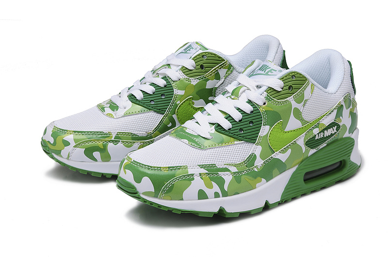 Nike Air Max 90 Green White For Women