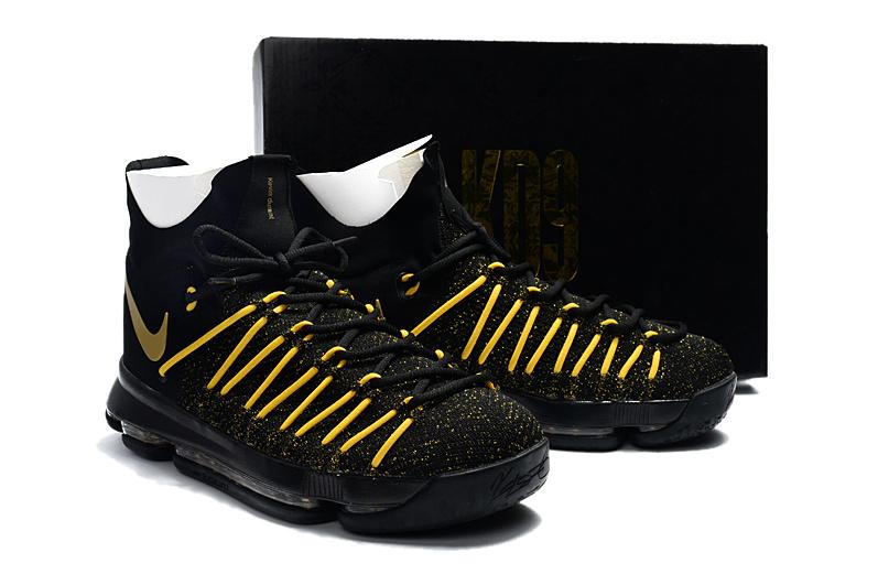 size 40 7abfe 29fd6 ... canada new men nike kd 9 black yellow shoes 76113 ba60e