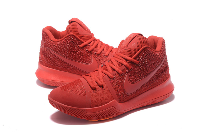 New Men Nike Kyrie 3 All Red Shoes