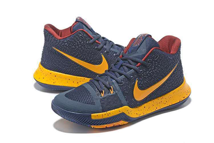 New Men Nike Kyrie 3 Cleveland Black Yellow Shoes
