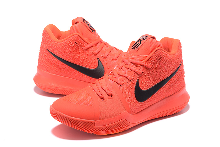 New Men Nike Kyrie 3 Red Black Red Shoes