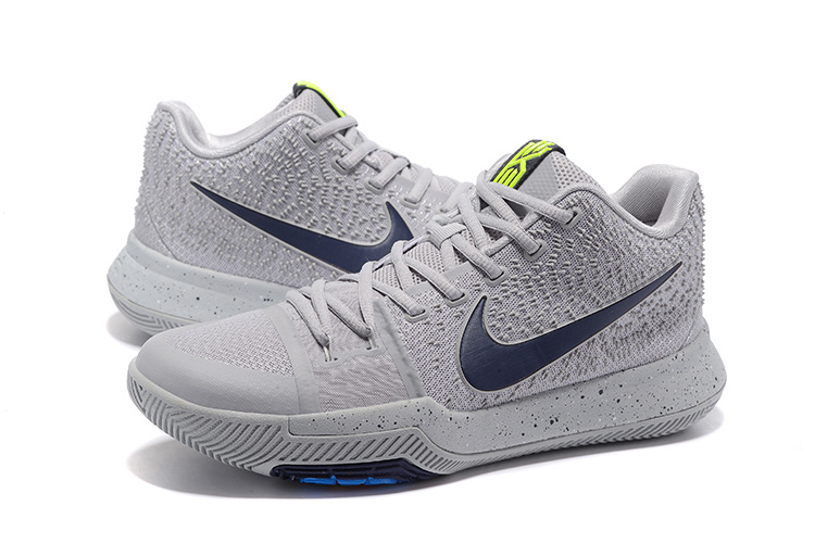New Men Nike Kyrie 3 Wolf Grey Shoes