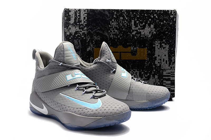 New Men Nike LeBron 11 Soldier Grey Jade Shoes