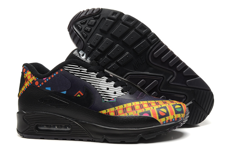 New Nike Air Max 90 Black Yellow Shoes