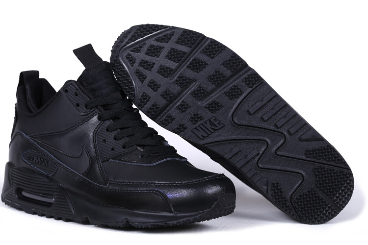 New Nike Air Max 90 High All Black Shoes