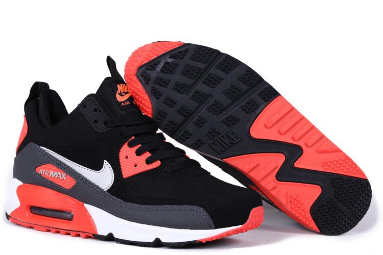 ad3b962216fe New Nike Air Max 90 High Black Reddish Orange White Shoes