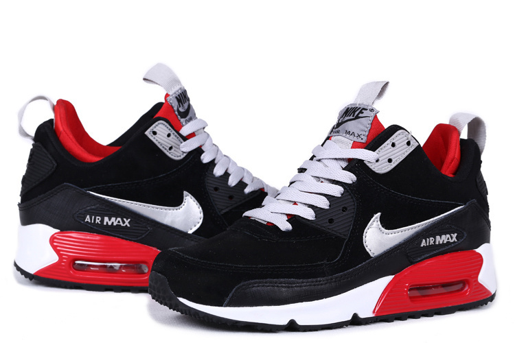 new photos 891e5 0fb46 New Nike Air Max 90 High Black White Red Shoes