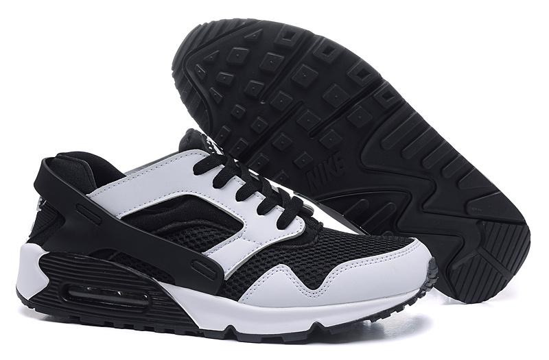 9dfc2b6e40f5 New Nike Air Max 90 Huarache White Black Shoes