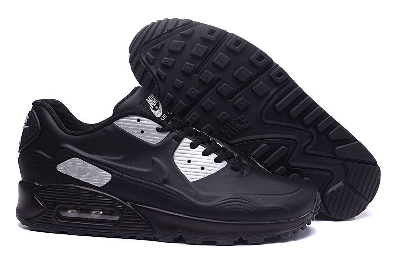 New Nike Air Max 90 Leather Black Shoes