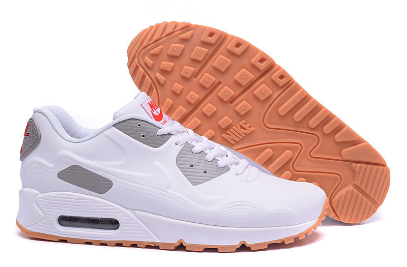 New Nike Air Max 90 Leather White Yellow Shoes