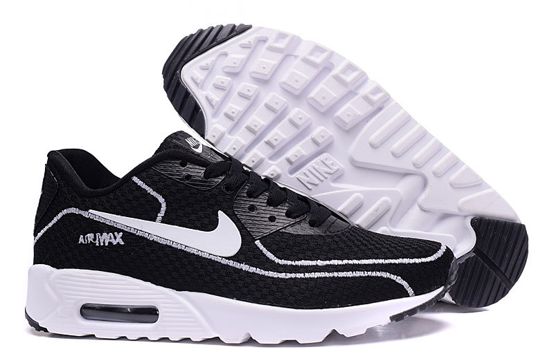 New Nike Air Max 90 Midnight Firefly Black White Shoes
