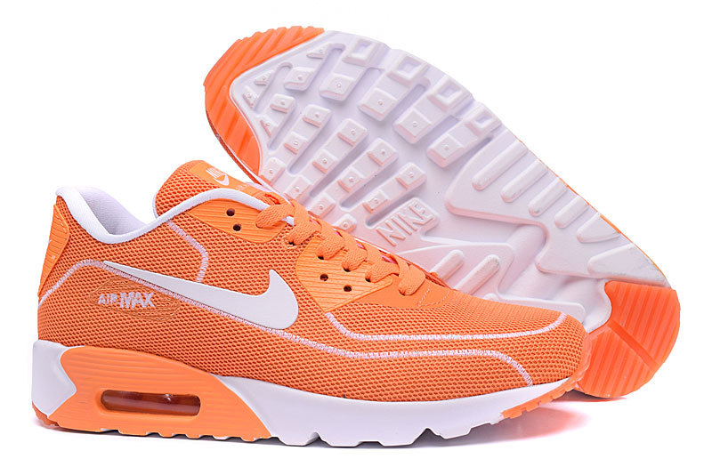 New Nike Air Max 90 Midnight Firefly Orange White Shoes