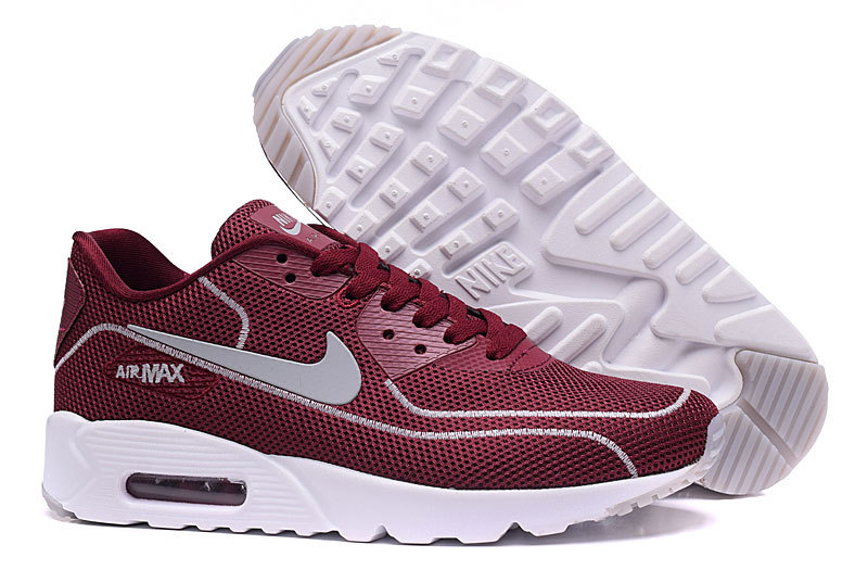 New Nike Air Max 90 Midnight Firefly Wine Red White Shoes