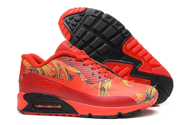 New Nike Air Max 90 Red Black Lover Shoes
