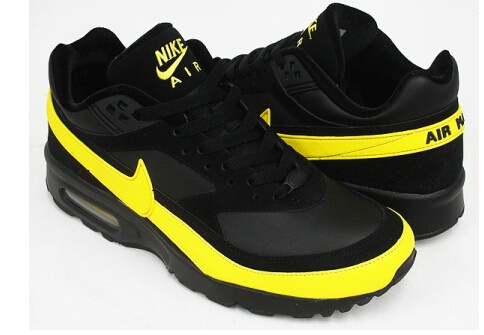 New Nike Air Max BW Black Yellow Shoes