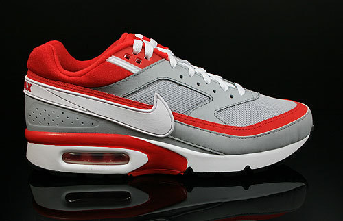 New Nike Air Max BW Grey Red White Shoes