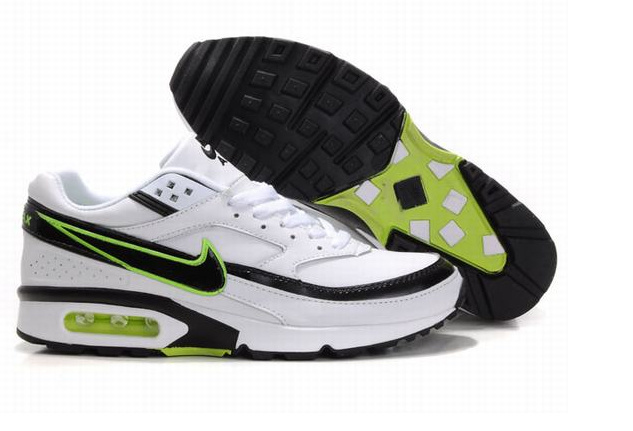New Nike Air Max BW White Black Green Shoes