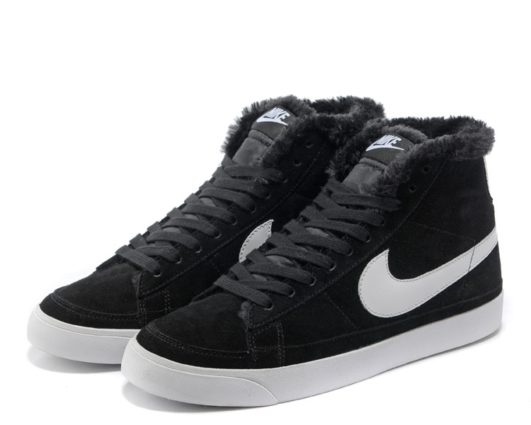 New Nike Blazer 2 High Wool Black White Shoes