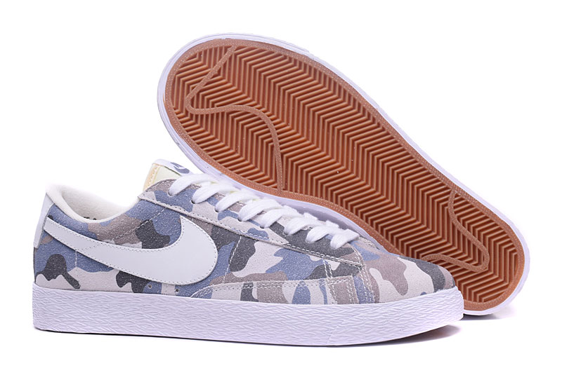 New Nike Blazer Low Army Blue White Shoes