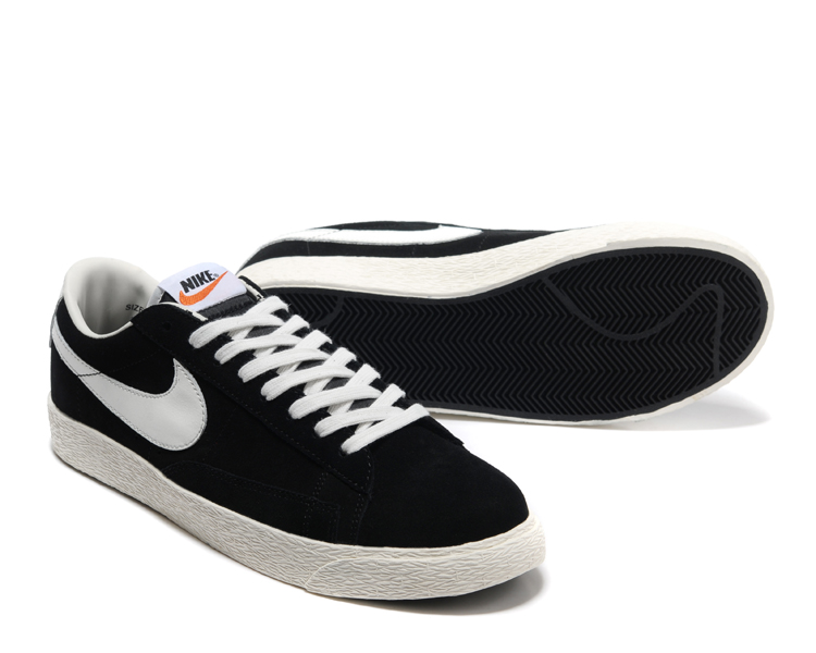 New Nike Blazer Low Black White Shoes