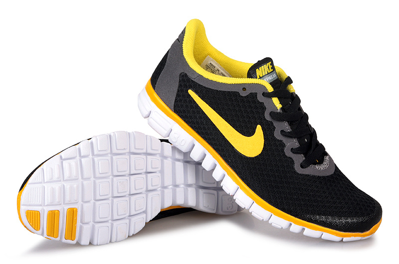 brand new 133fd da37e Latest Nike Free 3.0 Black Yellow White Shoes