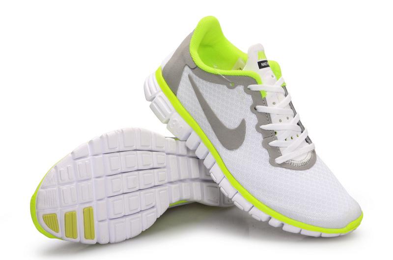 abb09138ab2d Latest Nike Free 3.0 White Grey Green Shoes