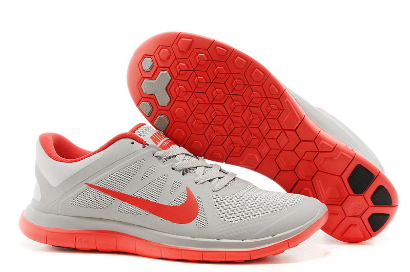 New Nike Free 4.0 V4 Grey Red Running Shoes